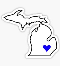 Michigan Love - Blue  Sticker