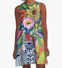 Late Summer Blooms A-Line Dress