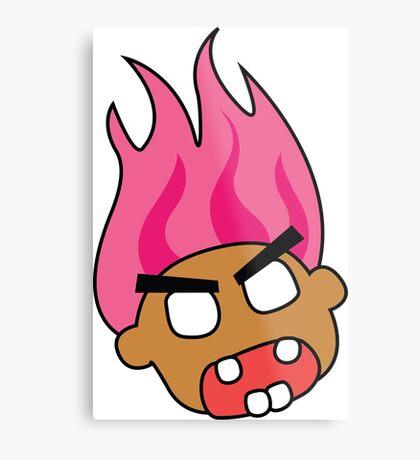 angry zombie troll Metal Print