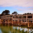 Wooden Bridge at Bay of Fires by Imi Koetz