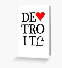 Detroit Love Greeting Card