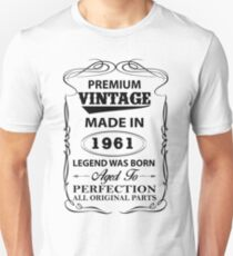 Premium Vintage 1961 Aged To Perfection Unisex T-Shirt
