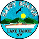 HAPPY BOATER LAKE TAHOE NEVADA NV BOATING BOAT CAMPER by MyHandmadeSigns
