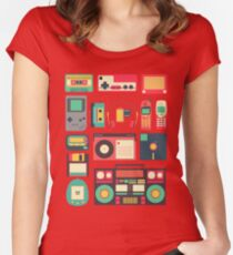RETRO TECHNOLOGY 1.0 Women's Fitted Scoop T-Shirt