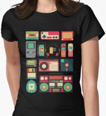 RETRO TECHNOLOGY 1.0 Womens Fitted T-Shirt