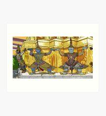 Three Warriors Art Print