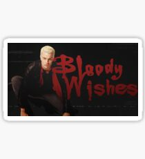 Bloody Wishes from Spike the Vampire - Halloween Sticker