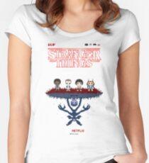 16-bit Stranger Things Women's Fitted Scoop T-Shirt