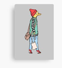 Duck Hipster Fashion Canvas Print