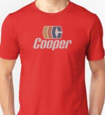 Cooper logo 2 (for non-blue shirts) Unisex T-Shirt