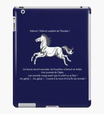 A l'attaque Rohirrim ! iPad Case/Skin