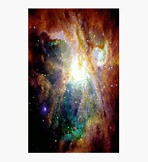 Pixel Yellow Nebula Photographic Print