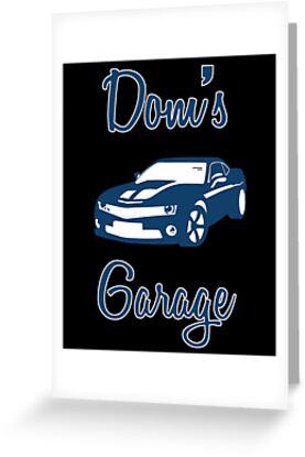Doms Garage The Fast And The Furious Greeting Cards By Movie