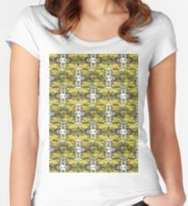 Autumn Sun rays #9, raindrops on apple pattern Women's Fitted Scoop T-Shirt