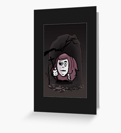 Monk in a Cave VRS2 Greeting Card