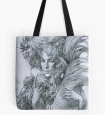 The fairy lady with fighting roosters Tote Bag