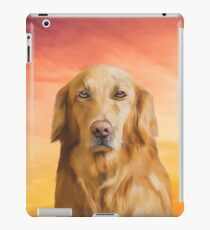 Golden Retriever Dog Water Color Art Oil Painting iPad Case/Skin