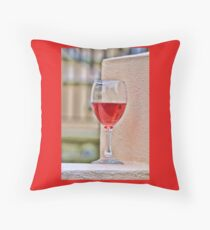What's In A Glass Of Wine Throw Pillow