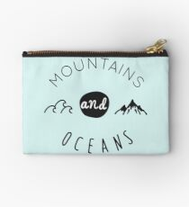 Mountains and oceans (dark text) Studio Pouch