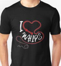 I Heart Whips  Unisex T-Shirt