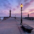 Alone on the Pier by Robin Whalley