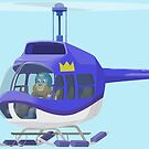Big City Vehicles - Lion Pilot Flying Helicopter  by TheMelodyBook