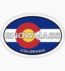 Snowmass Village - Apsen Colorado - State Flag design! Sticker