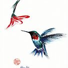 ANGEL - Hummingbird Painting by Rebecca Rees
