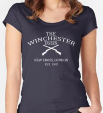 The Winchester Tavern - Shaun Of The Dead Women's Fitted Scoop T-Shirt