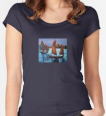 Junks In the Descending Dragon Bay Women's Fitted Scoop T-Shirt