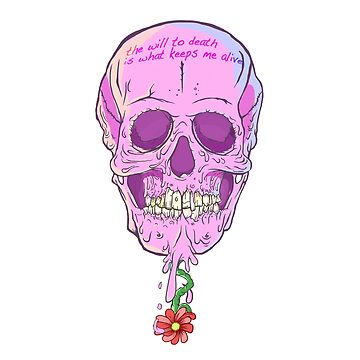 THE CHEWING GUM SKULL or THE WILL TO DEATH by Pikeiros