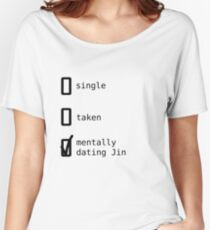 BTS - Mentally Dating Jin T-shirts coupe relax