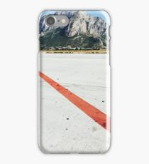 Red Line on Airfield iPhone Case/Skin