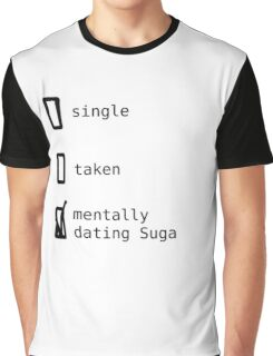 BTS - Mentally Dating Suga T-shirt Graphique