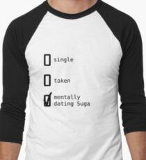BTS - Mentally Dating Suga T-shirt baseball manches ¾