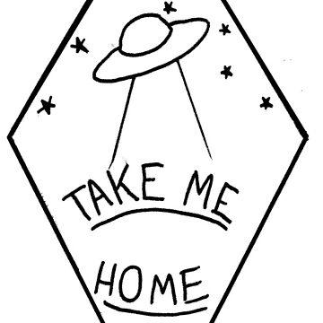 """Take Me Home"" Geometric UFO by autumnxdawn"