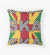 Ska, Ska, Ska Throw Pillow