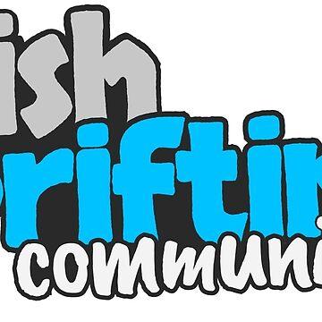 Irish Drifting Community - Blue Logo by madebyluddy