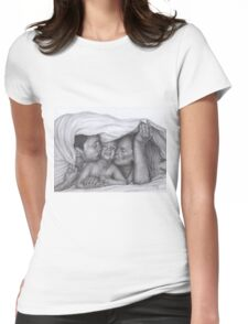 Castle and Beckett - Morning kisses Womens Fitted T-Shirt