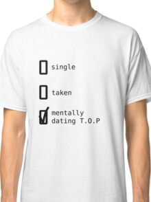 BIGBANG - Mentally Dating T.O.P T-shirt Classique