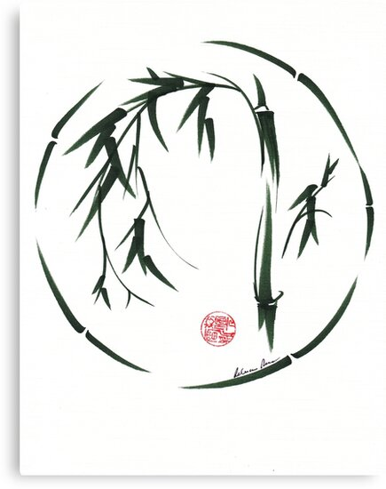 VISIONARY Original sumi-e enso ink brush wash painting by Rebecca Rees