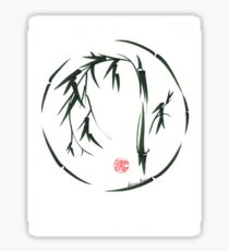 VISIONARY Original sumi-e enso ink brush wash painting Sticker