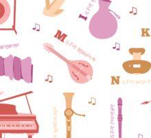 Musical Instrument Alphabet Sticker