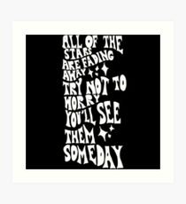 Oasis Stop Crying Your Heart Out Art Print
