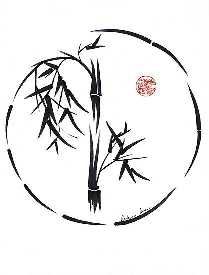 PASSAGE  - Original sumi-e enso ink brush art by Rebecca Rees