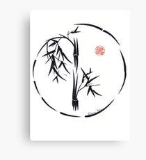 PASSAGE  - Original sumi-e enso ink brush art Canvas Print