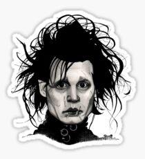 Tribute to Edward Scissorhands *RE-EDITED Sticker