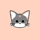 Clio Katzen Kopf - Pfirsich von Chopsy28