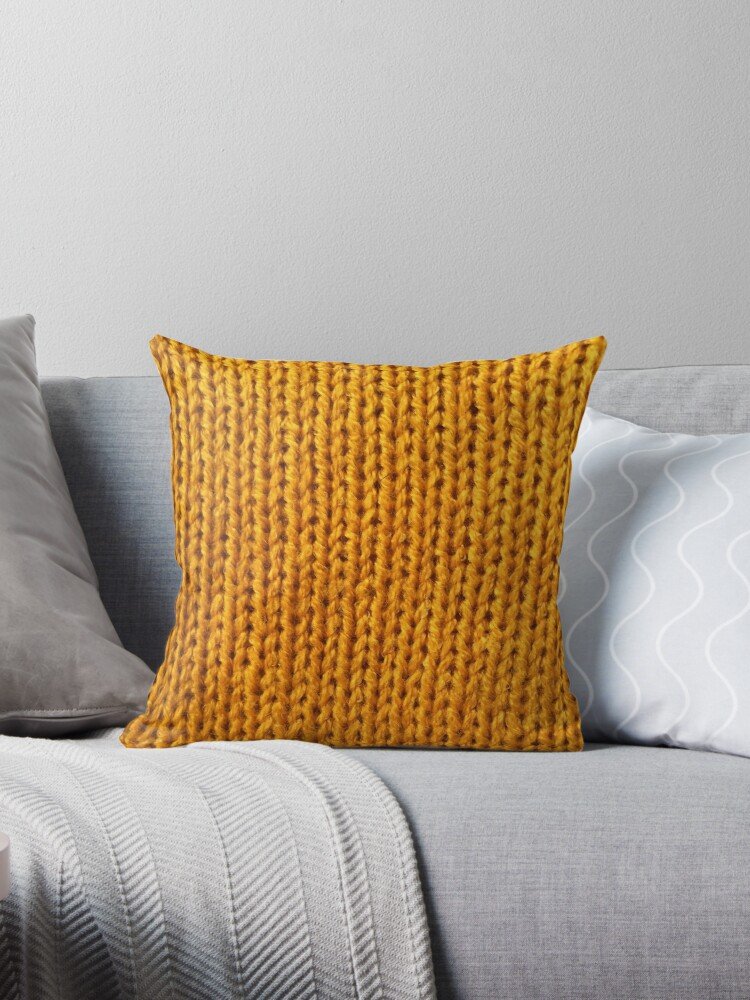 Superb Yellow Knit Throw Pillow By Arielclark93 Theyellowbook Wood Chair Design Ideas Theyellowbookinfo