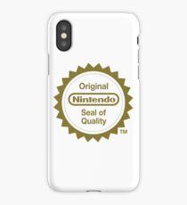 Nintendo Original Seal of Quality iPhone Case/Skin